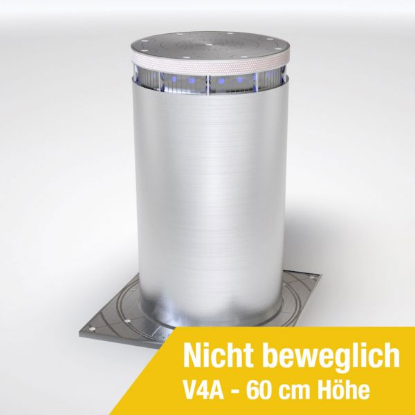 Absperrpoller Edelstahl V4A Fest 60 cm Höhe