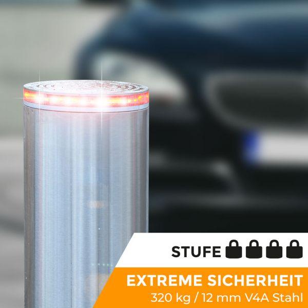 Absperrpoller Edelstahl V4A Pneumatisch (12 mm)