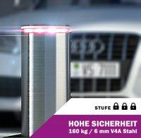 Absperrpoller Edelstahl V4A Elektrisch 60 cm Hub